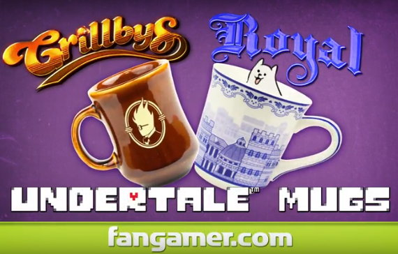 UNDERTALE(アンダーテール)公式グッズにマグカップ2種が登場