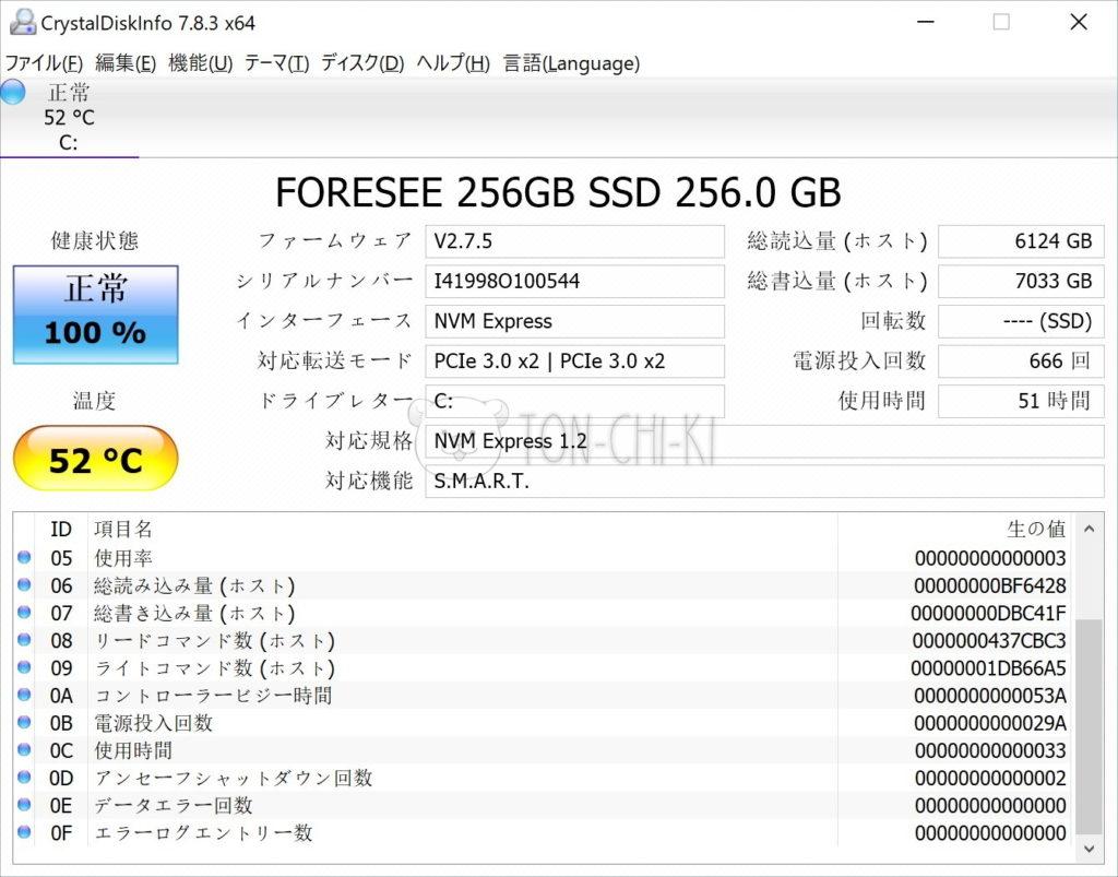 OneMix 2SのSSD