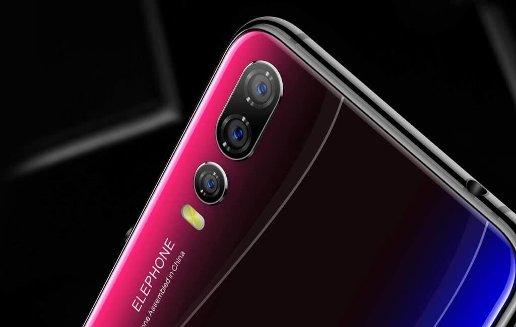 Elephone A5はトリプルカメラ