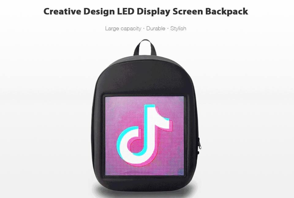 Fashion WIFI Version Smart Led Dynamic Backpack