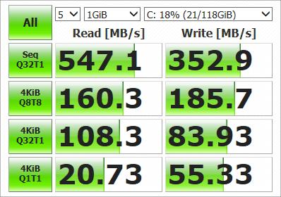 GPD MicroPC SSD速度