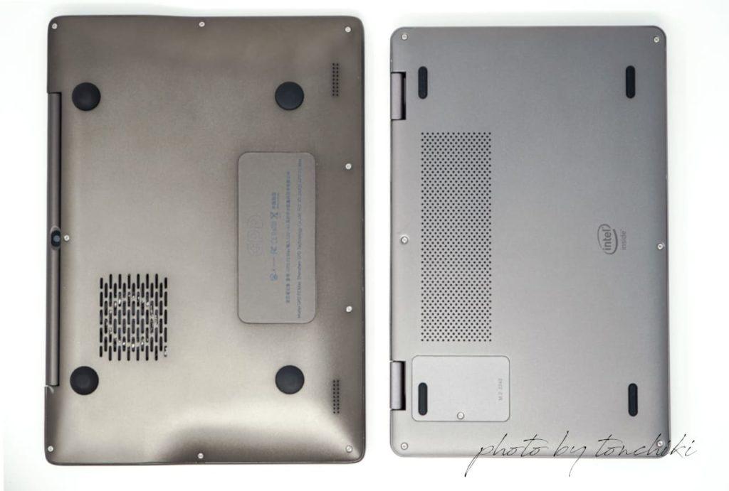 GPD P2 Max の CHUWI MiniBook ストレージ