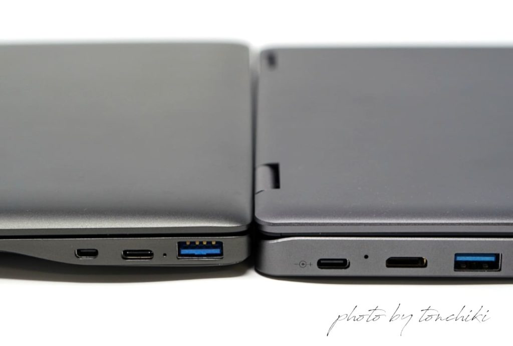 GPD P2 Max と CHUWI MiniBook インターフェイス
