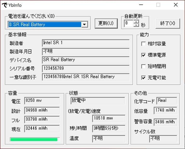 GPD P2 Max バッテリー状態