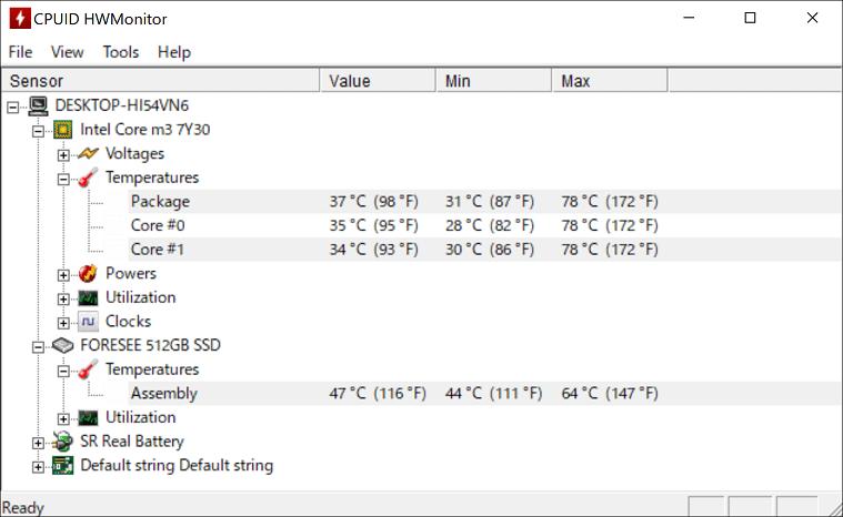 Magic-ben MAG1 温度