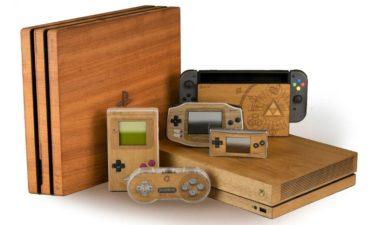 木製のレトロゲーム機