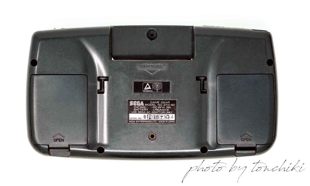 ゲームギア LCD / TFT液晶モデル背面