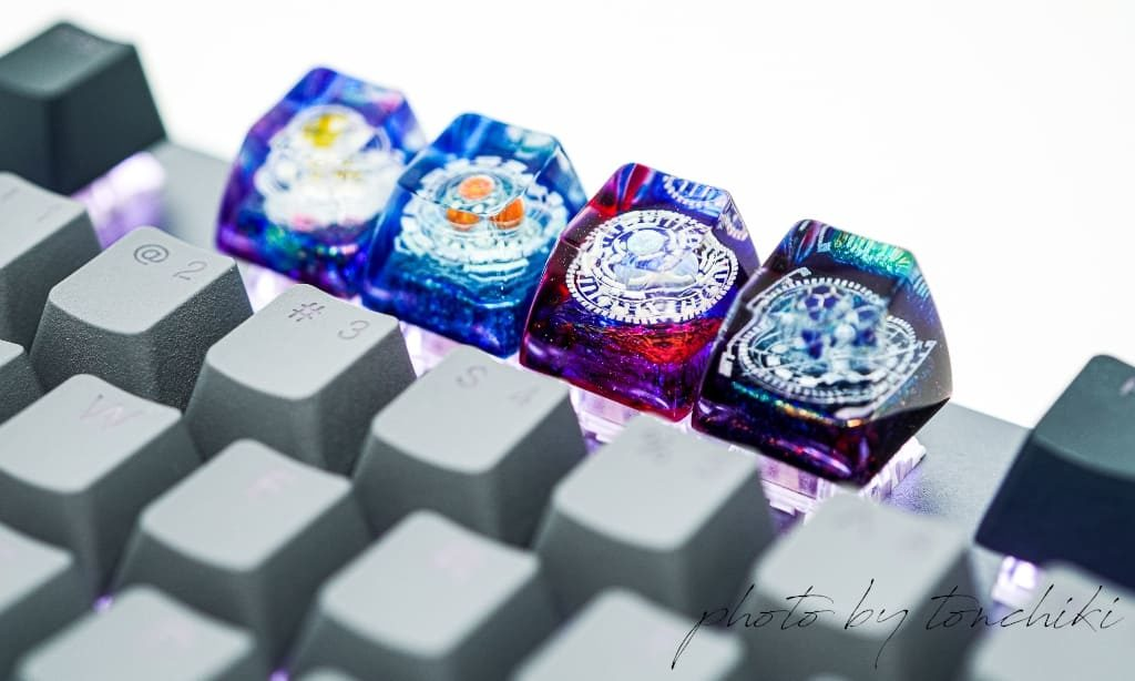 Jelly Key Cosmo Series – Celestial Sphere artisan keycaps