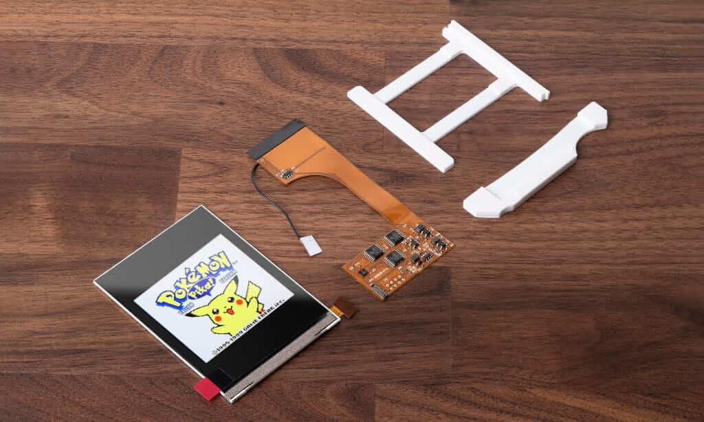 ゲームボーイカラーの IPS液晶交換キット