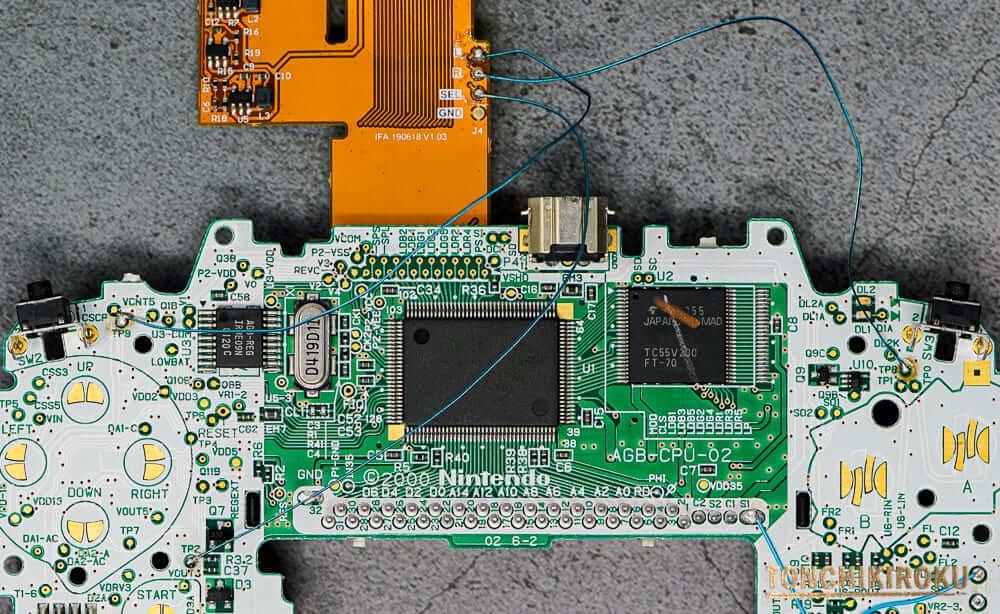 ゲームボーイアドバンス IPS液晶交換キット 配線