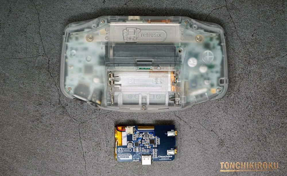 ゲームボーイアドバンス バッテリー搭載