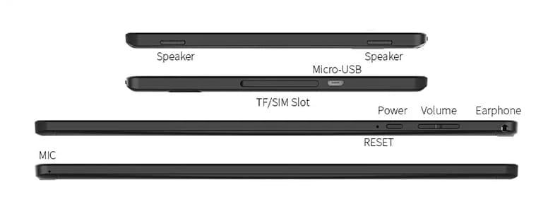 Teclast P10HD I/Oポート