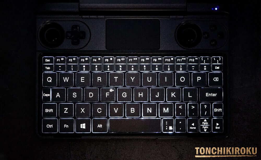 GPD WIN Max バックライトキーボード