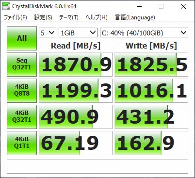 GPD WIN Max ストレージ速度
