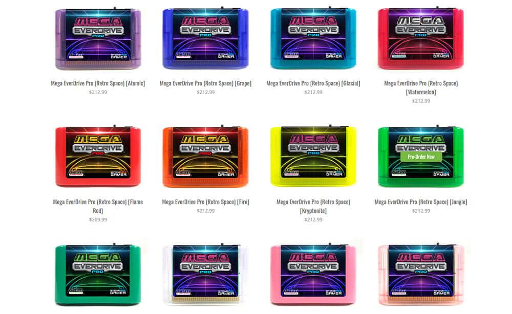 Mega EverDrive Pro カラーバリエーション