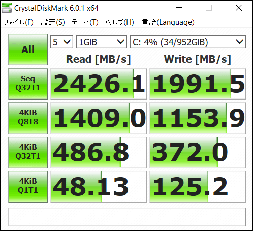 AYA NEO Founder Edition SSD速度