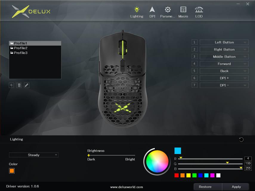 Delux M700 専用アプリ