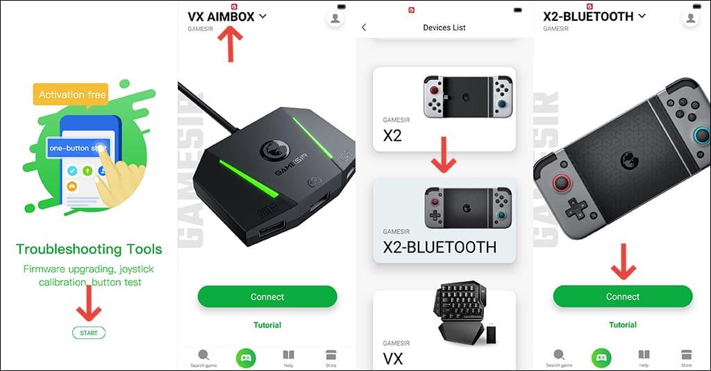 GameSir X2 Bluetooth 使い方