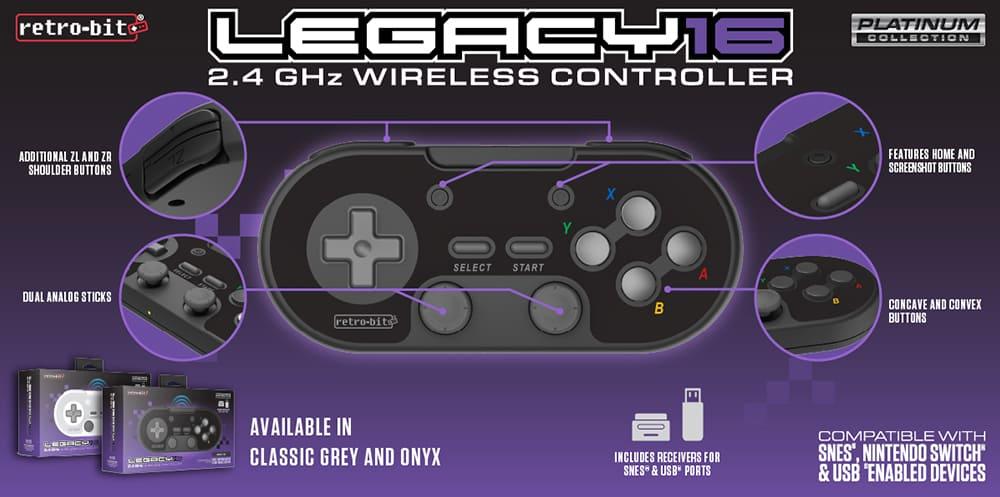 retro-bit SNES controller Legacy16