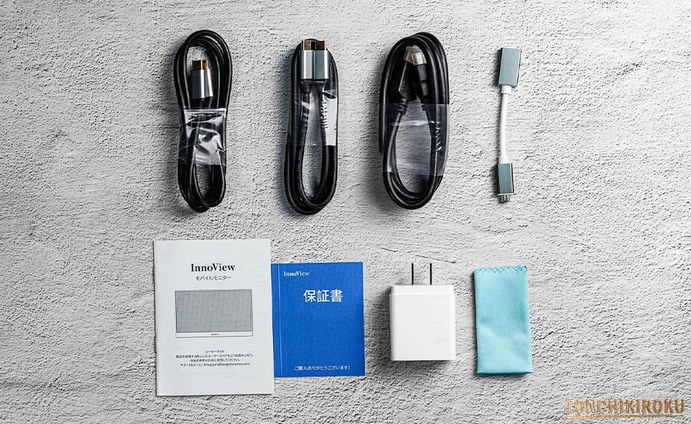 InnoView モバイルモニター 付属品